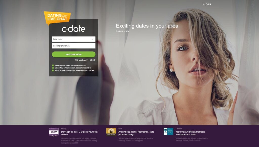 C-date screenshot UK
