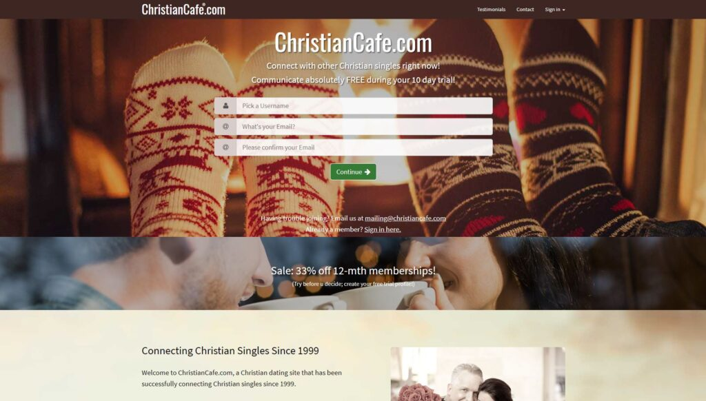 ChristianCafe screenshot