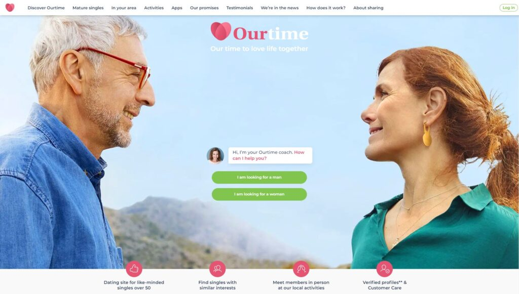 Ourtime - The best dating sites for singles over 50