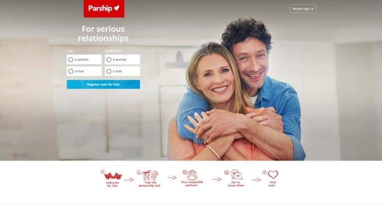 Parship.co.uk screenshot