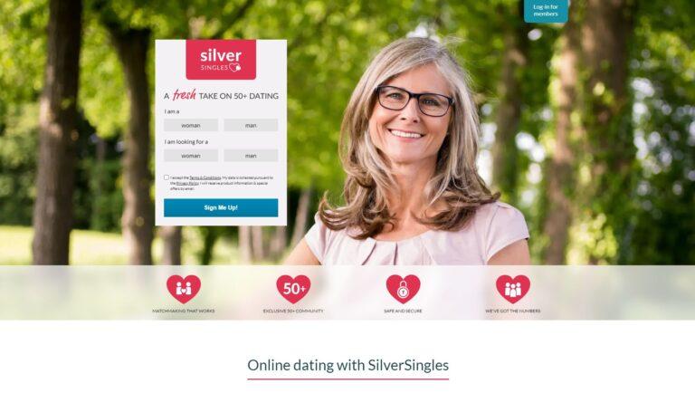 SilverSingles.co.uk screenshot