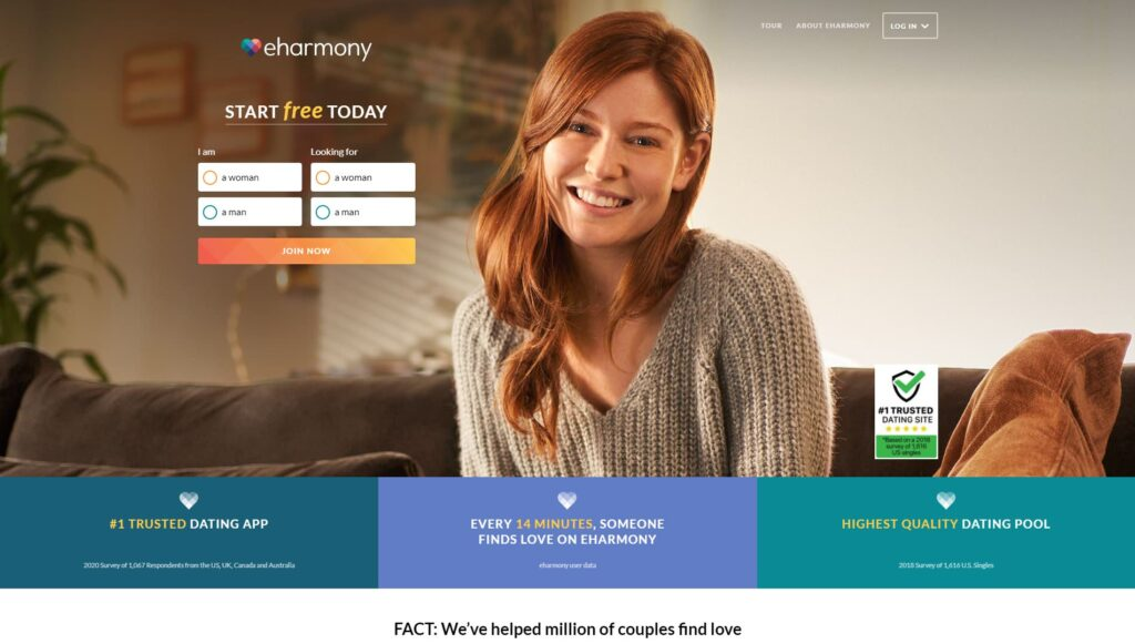 eharmony screenshot
