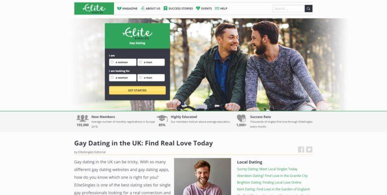 EliteSingles Gay dating site