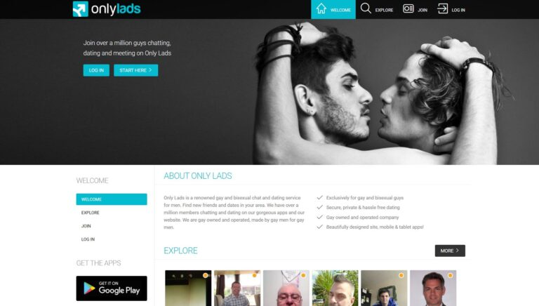 OnlyLads - gay dating site