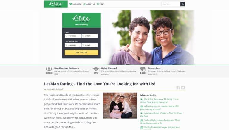Elite SIngles - Lesbian dating